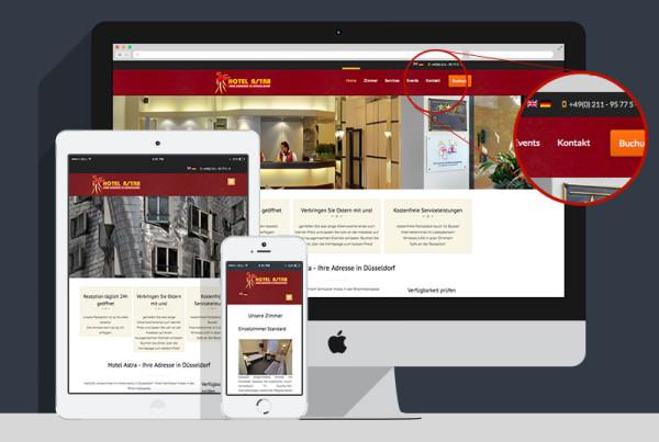 mehrsprachige hotel-homepage