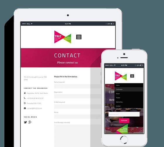 Konferenz-Website mit WordPress