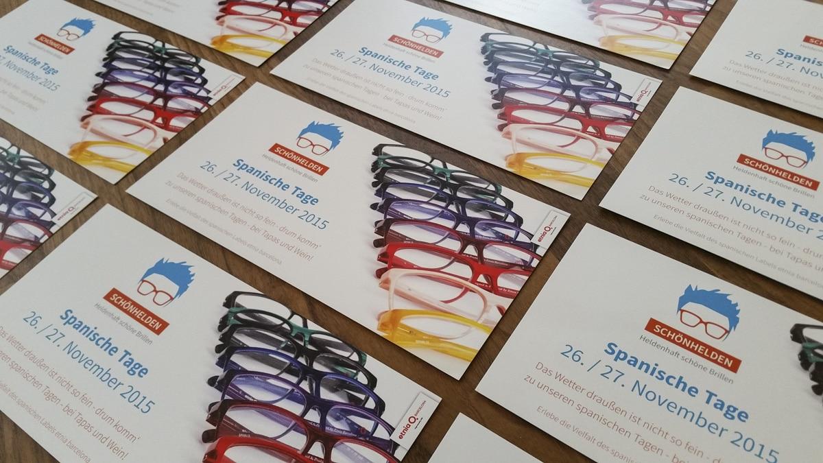 Flyer Event, Veranstaltungsflyer Schönhelden, Einladungsflyer, Grafikdesign Berlin