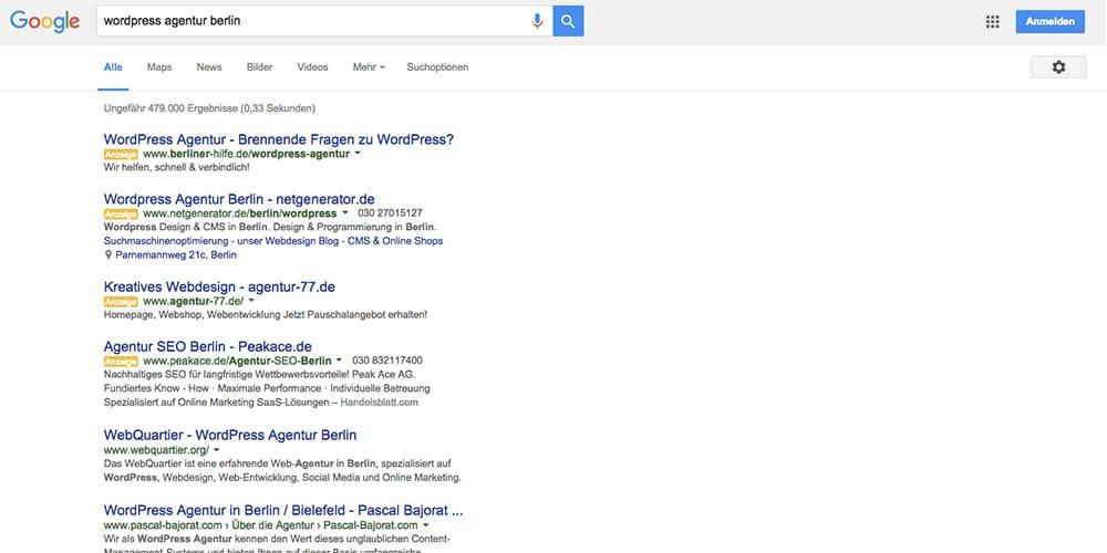 Keine Google AdWords Anzeigen mehr in der rechten Spalte