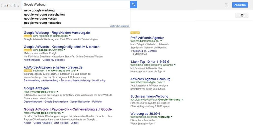 google-adwords-rechte-spalte