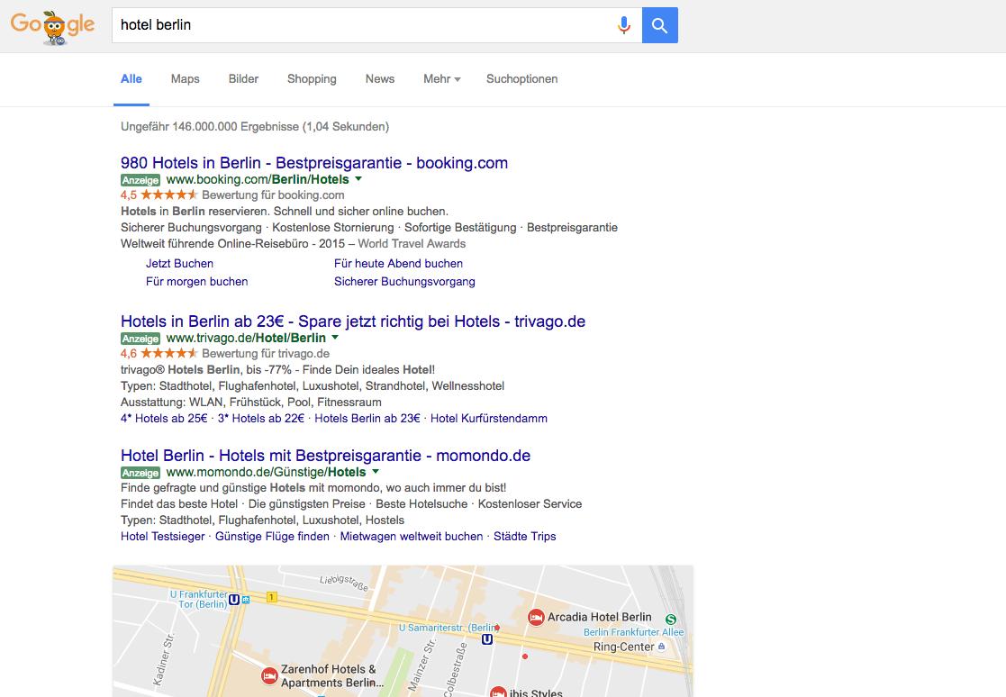 Google AdWords ermöglicht längere Textanzeigen