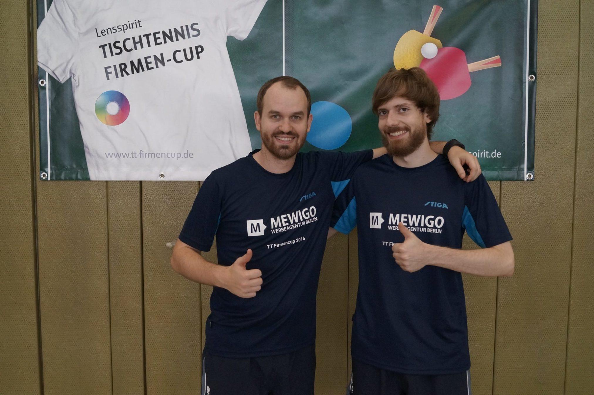 MEWIGO auf dem 5. Lensspirit Tischtennis Firmen-Cup 2016