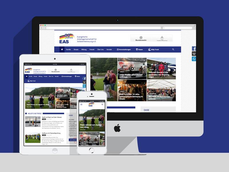 WordPress Agentur Berlin MEWIGO hat die EAS Website erstellt