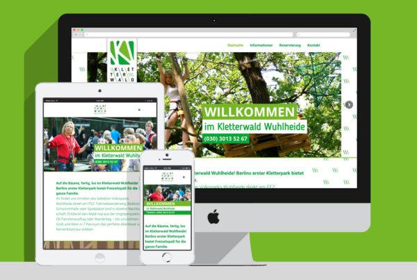 WordPress Agentur Projekt: Kletterwald Wuhlheide