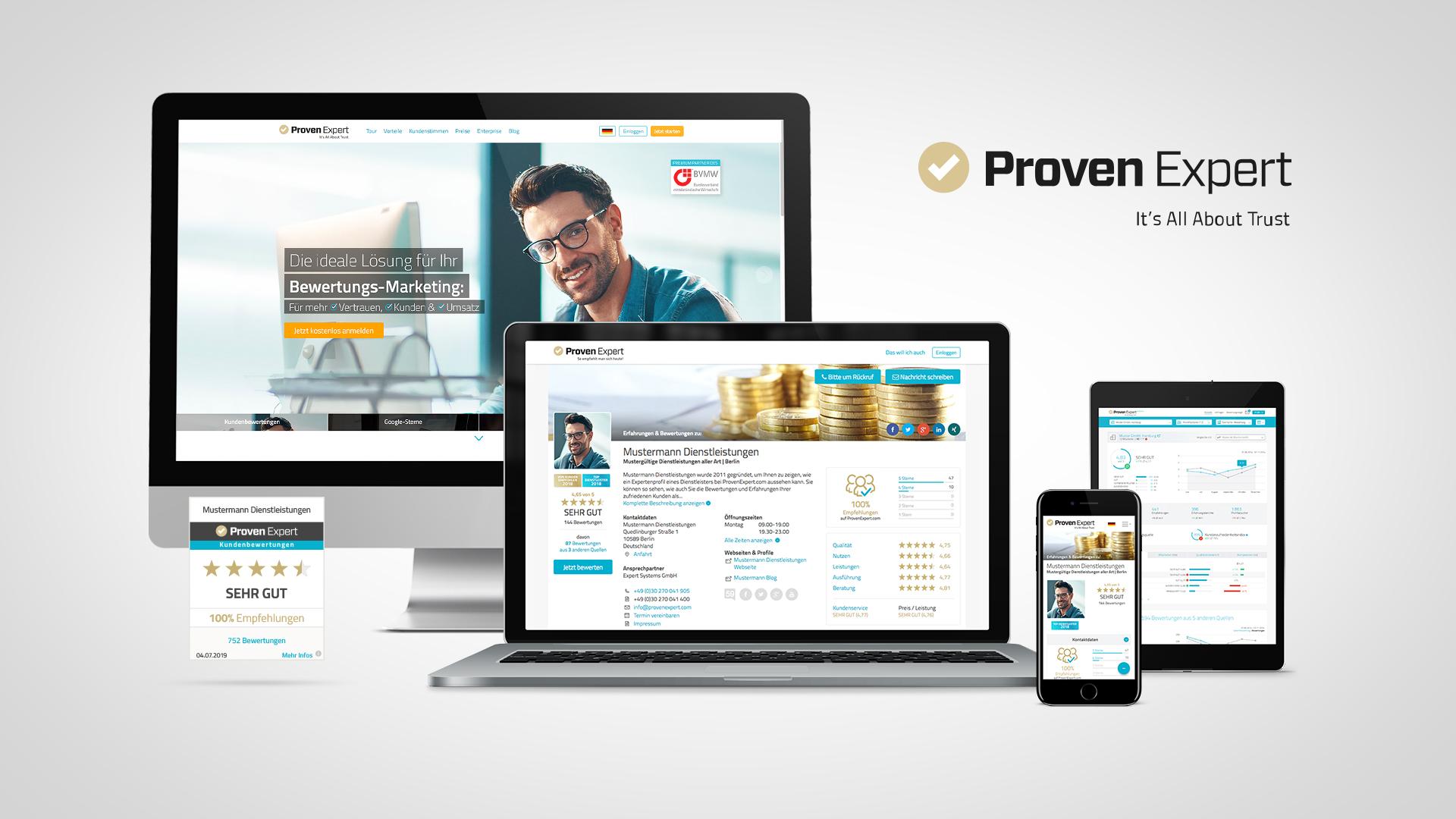 ProvenExpert – Wie Sie Kundenbewertungen von Google, Facebook & Co. zusammenfassen und auf Ihrer Webseite anzeigen