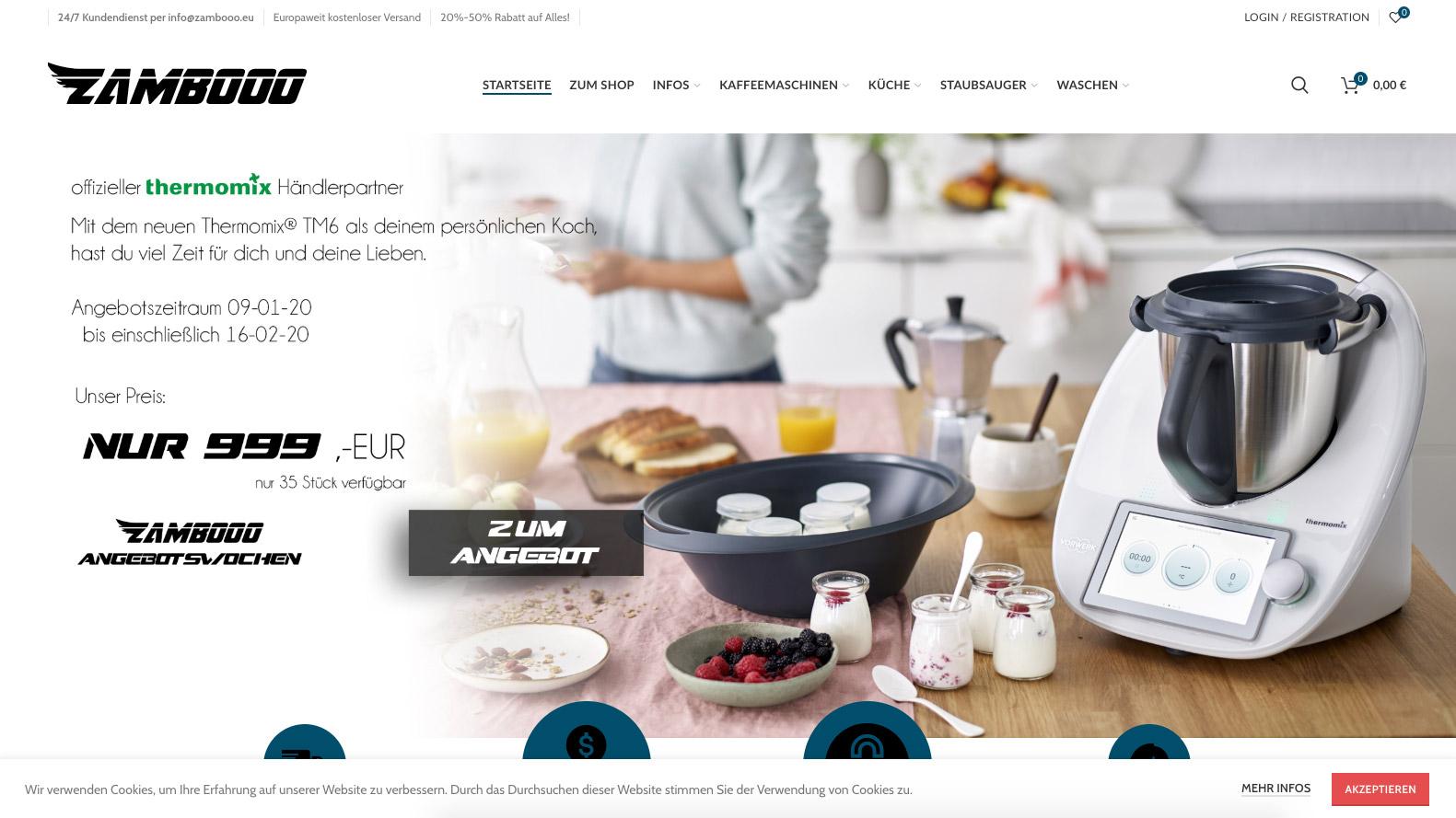 zambooo.eu – Betrügerischer Fake Shop missbraucht Kontaktdaten von MEWIGO